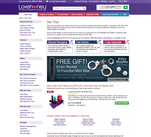 Lovehoney sex toys