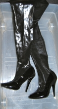 Latex boots - have 2 pairs the same